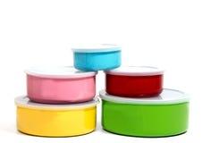 Lagring för mat för matbehållare eller plast- Arkivfoto