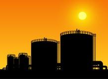 Lagring för olje- behållare vektor illustrationer
