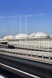 Lagringsbehållare och infrastruktur i Nederländerna Arkivfoton