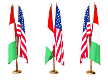 Lags of Italy and the United State Stock Photos