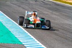 Lagstyrka Indien F1, Jules Bianchi, 2013 Fotografering för Bildbyråer