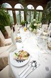 lagt mottagandetabellbröllop Fotografering för Bildbyråer