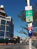 LaGuardia-Flughafen-Zeichen, LIC, Queens, NY, USA Lizenzfreies Stockfoto