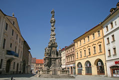 Laguekolom (Kolom van Maagdelijke Mary Immaculate) in Kutna Hora, Tsjechische Republiek Stock Afbeeldingen