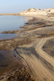 Lagunöppning till havslandskapet Arkivbild