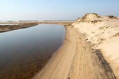 Lagunöppning till havslandskapet Fotografering för Bildbyråer