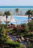 lagun över panorama- havssikt Arkivbilder