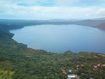 Lagun Apoyo i Nicaragua arkivfoton