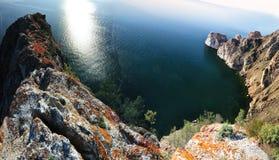 Lagun av Baykal sjön Arkivbilder