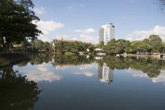 Lagun av illusioner, den canabal tomasgarridoen parkerar Villahermosa, tabascot, Mexico Arkivbilder