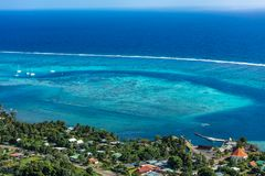 LAGUN AV MOOREA-ÖN till franska Polynesien fotografering för bildbyråer