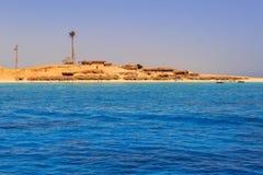 Lagun av Röda havet på den Mahmya ön Arkivbild