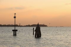 Lagun av Venedig, Italien Arkivbilder