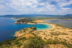Lagun av Voidokilia royaltyfri bild