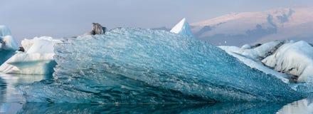 Lagun för glaciär för ³ n för Jökulsà ¡ rlÃ, Island Fotografering för Bildbyråer