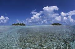 Lagun franska Polynesien Royaltyfria Bilder