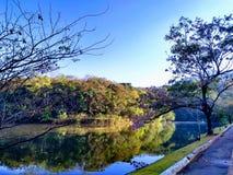 Lagun på gryning Arkivbild