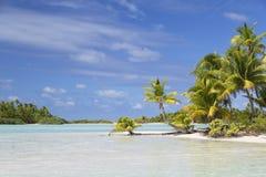 Lagun på Les sobelrosor (rosa färgsander), Tetamanu, Fakarava, Tuamotu öar, franska Polynesien royaltyfria bilder