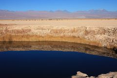 Laguna in atacama desert Royalty Free Stock Photo
