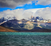 The Laguna Azul emerald water Royalty Free Stock Photography