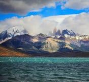 The Laguna Azul emerald water Royalty Free Stock Photography