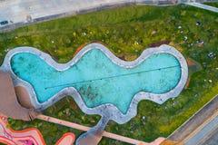Laguna azul en el nuevo parque en Moscú Fotos de archivo