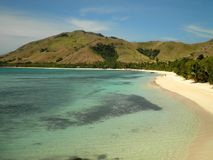 Laguna azul en Fiji Fotos de archivo libres de regalías