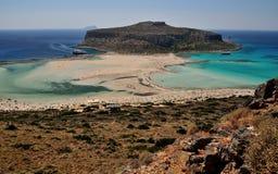 Laguna azul en Grecia Foto de archivo libre de regalías