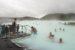 Laguna azul, Islandia Foto de archivo