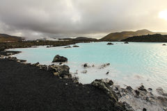 Laguna azul, Islandia Fotos de archivo libres de regalías