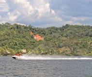 Laguna azul jet ski Stock Image