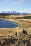Laguna Azul, parco nazionale di Torres del Paine, Cile Fotografia Stock