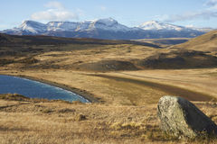 Laguna Azul, parque nacional de Torres del Paine, o Chile Imagem de Stock