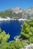 Laguna azul secreta Fotografía de archivo