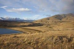 Laguna Azul, Torres del Paine nationalpark, Chile Fotografering för Bildbyråer