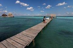 Laguna Bacalar - watersporten 7 royalty-vrije stock afbeelding