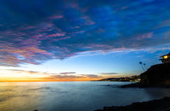 Laguna beach Blue Hour. Looking North at blue hour in Laguna Beach royalty free stock image