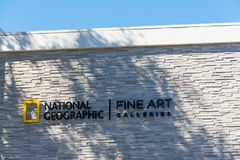 National Geographic fine art galleries. Laguna Beach, CA, USA - November 03, 2016: National Geographic fine art galleries Royalty Free Stock Photos