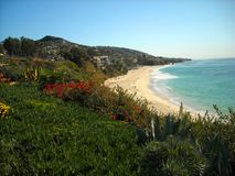Laguna Beach California. Looking towards the sea on the coast of Laguna Beach, California stock image