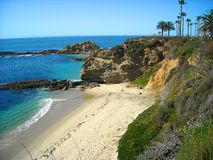Laguna Beach California. Looking towards the sea on the coast of Laguna Beach, California royalty free stock image