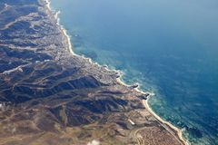 Laguna Beach California Aerial. Aerial photo of Laguna Beach California and the Orange County coast Stock Photo
