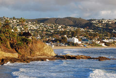 Laguna Beach, California coastline by Heisler Park during the winter months. Royalty Free Stock Photo