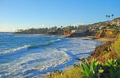 Laguna Beach, de kustlijn van Californië door Heisler Park tijdens de wintermaanden Royalty-vrije Stock Afbeelding