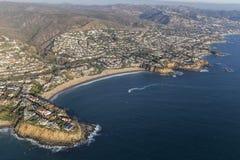 Laguna Beach Emerald Bay Cove Aerial View Fotografia Stock