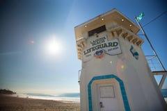 Laguna Beach-Leibwächter Tower am Hauptstrand Stockfoto