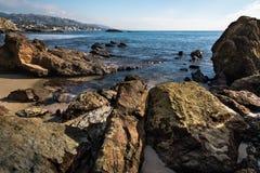 Laguna Beach na maré baixa Imagens de Stock Royalty Free