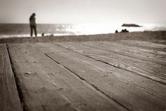 Laguna Beach Walk (6746). Boardwalk at the beach in Laguna Beach California Royalty Free Stock Photo