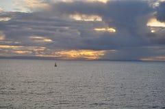 Laguna Beachsonnenuntergang Stockbild
