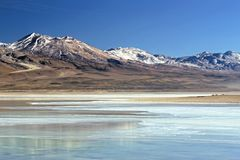 Laguna Blanca, Bolivia. This image was shot in Bolivia's Andean highlands at Lake Blanca. The image was shot with a Nikon F5 and scanned using a Nikon Coolscan Royalty Free Stock Photography