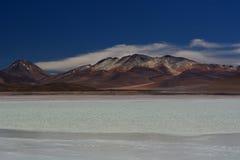 Laguna Blanca. Eduardo Avaroa Andean Fauna National Reserve. Bolivia. Laguna Blanca is a salt lake in an endorheic basin, in the Sur Lípez Province of the Potos Royalty Free Stock Image